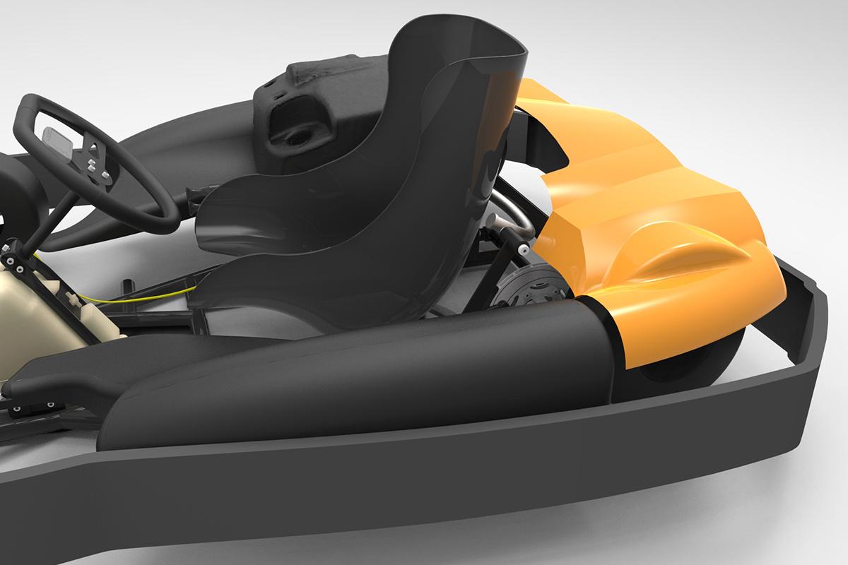 Kart back body kit