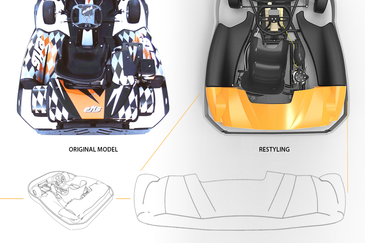 Old and new Kart back bodywork