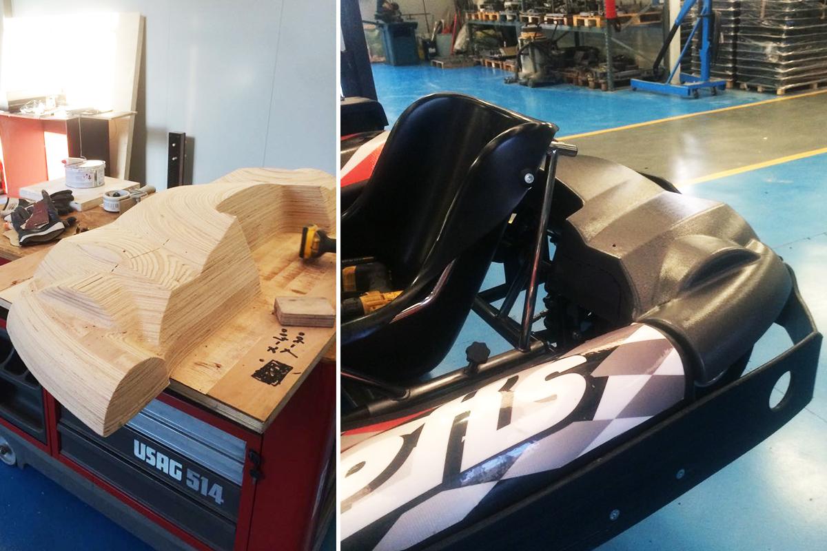Kart back bodywork construction