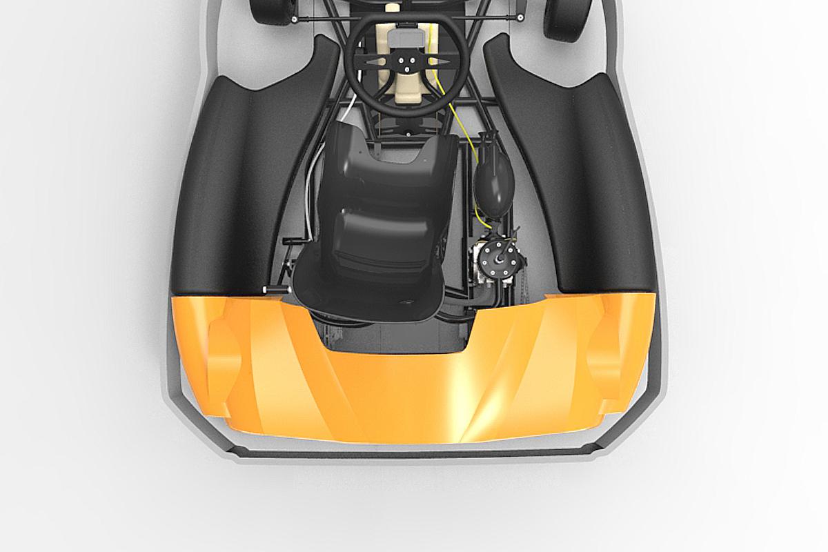 Kart back bodywork