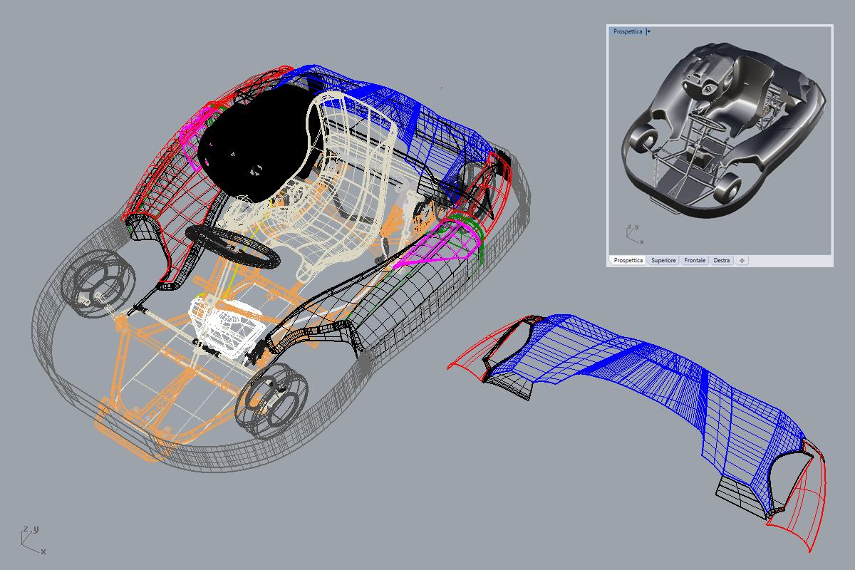 3D Project Kart back body kit